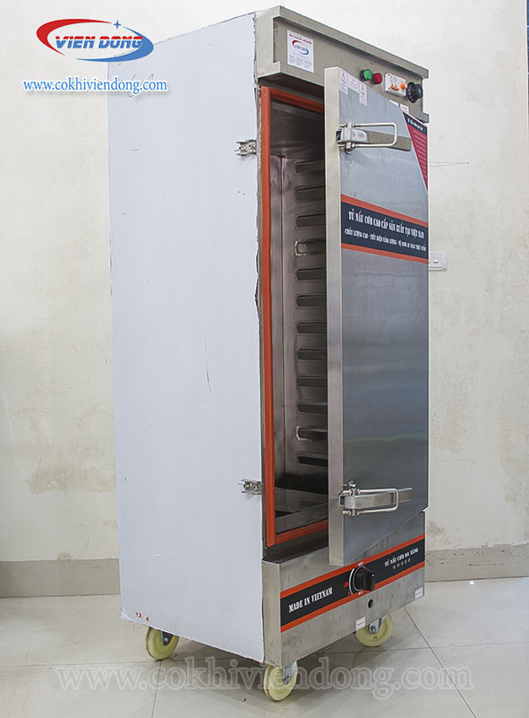 Tủ hấp giò chả dùng điện và gas