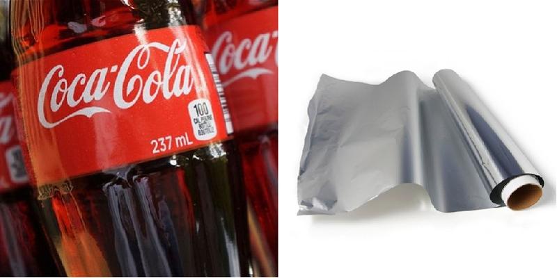 Vệ sinh lò quay vịt bằng coca và giấy bạc